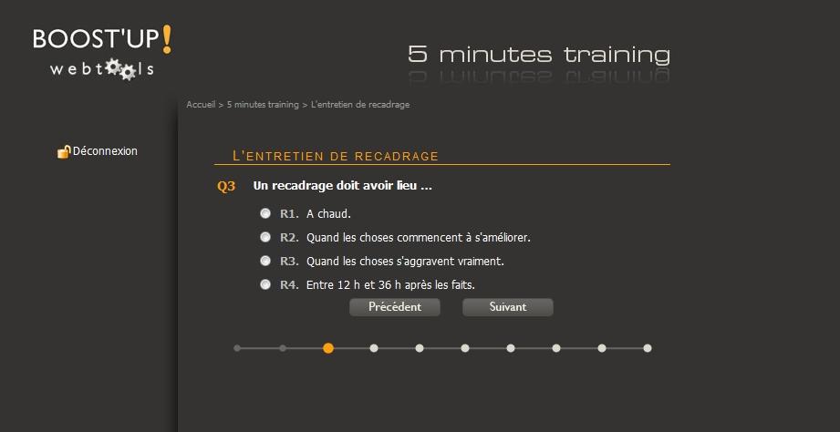 5 minutes training